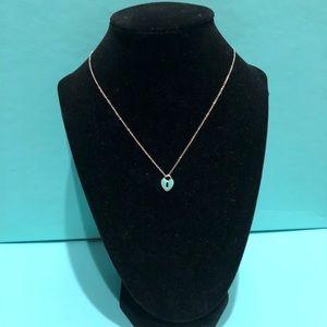 Authentic Tiffany & Co. Blue Heart Lock Pe…